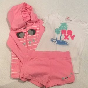 Roxy girls short sweat set size 5
